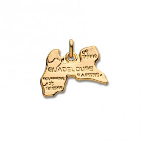 Pendentif Guadeloupe Carte Or375